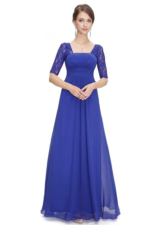 Sexy-fashion-sapphire-blue-lace-square-neckline-long-prom-evening-dress