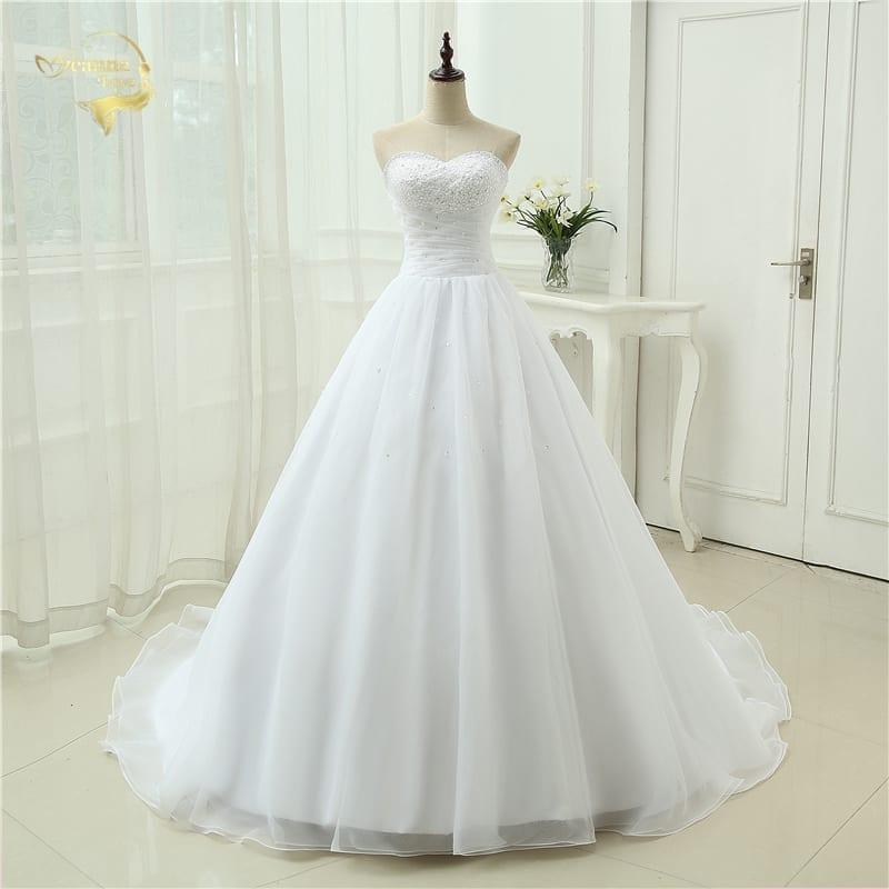 A-line Sweetheart Organza Vintage Wedding Dress