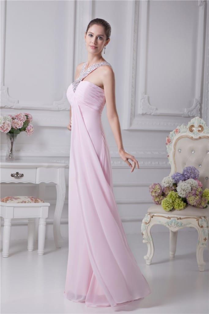 Long Evening Sweetheart Dress side