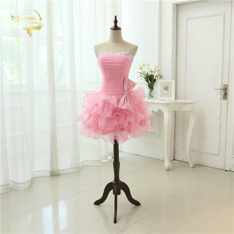 Beading Mini Organza Cocktail Dress