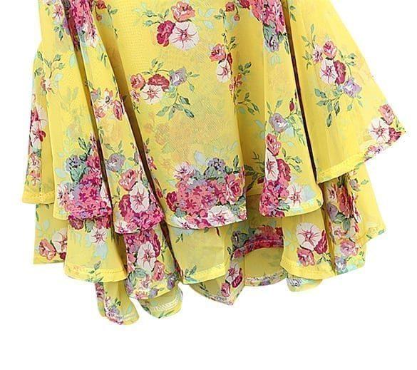 Retro Flower Sleeveless Cotton Tank Top