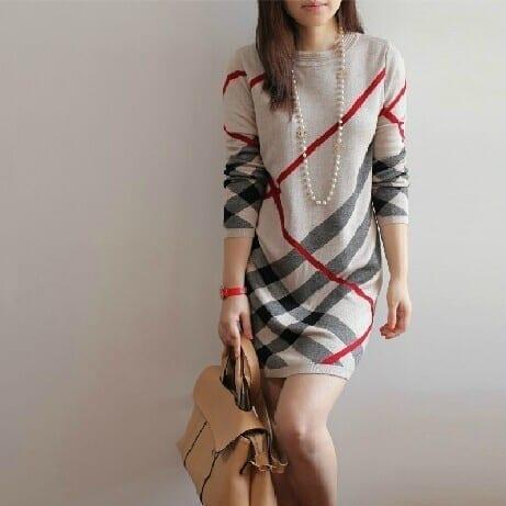 Wool Pullover Dress