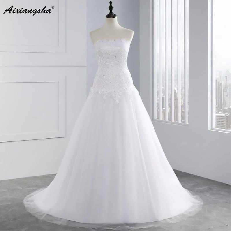Applique Women's A-line  Wedding Dress