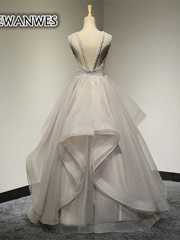 Tulle Luxury Beading Scoop Neck Wedding Gown