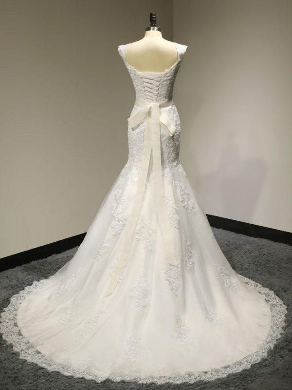 Mermaid Lace Wedding Dress With Sashes