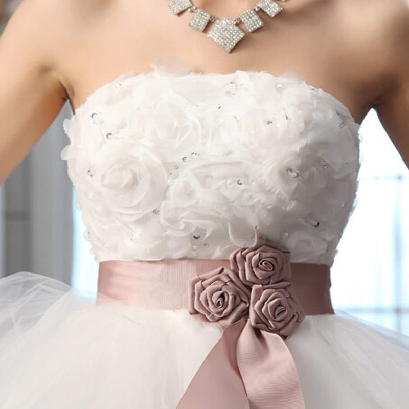 Royal Princess Wedding Dress Short Train