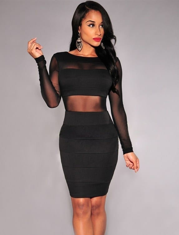 O-neck Full Sleeve Casual Dress