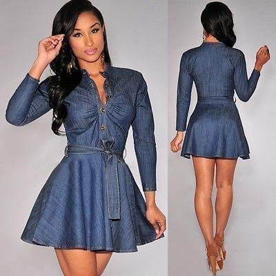 Slim Fit Denim Jean Dress
