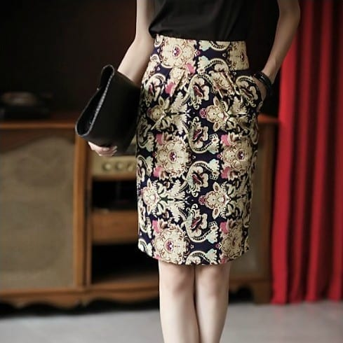 Vintage Patterns Floral Skirt