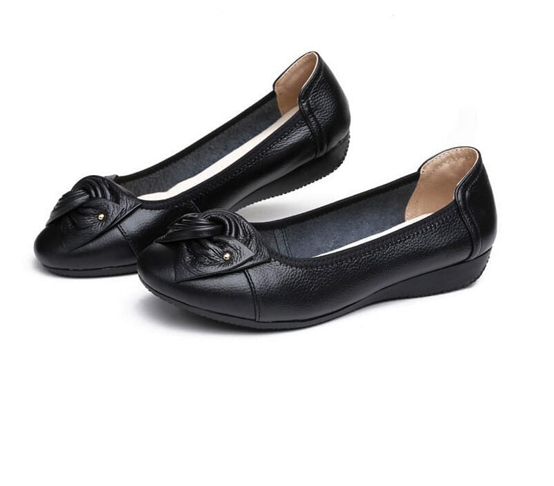 Leather Ballet Flat Shoes