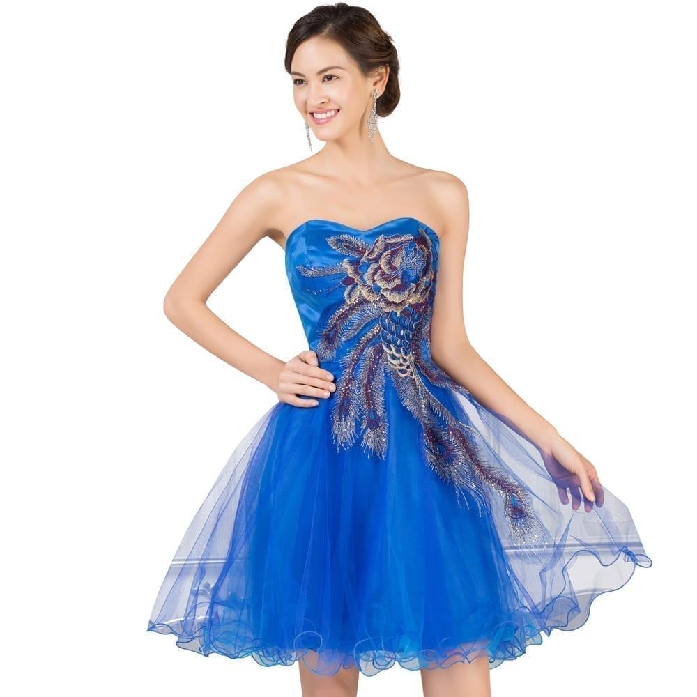 Knee Length Corset Bridesmaid Dress