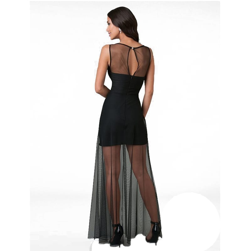Chiffon Sleeveless Floor-length Dress