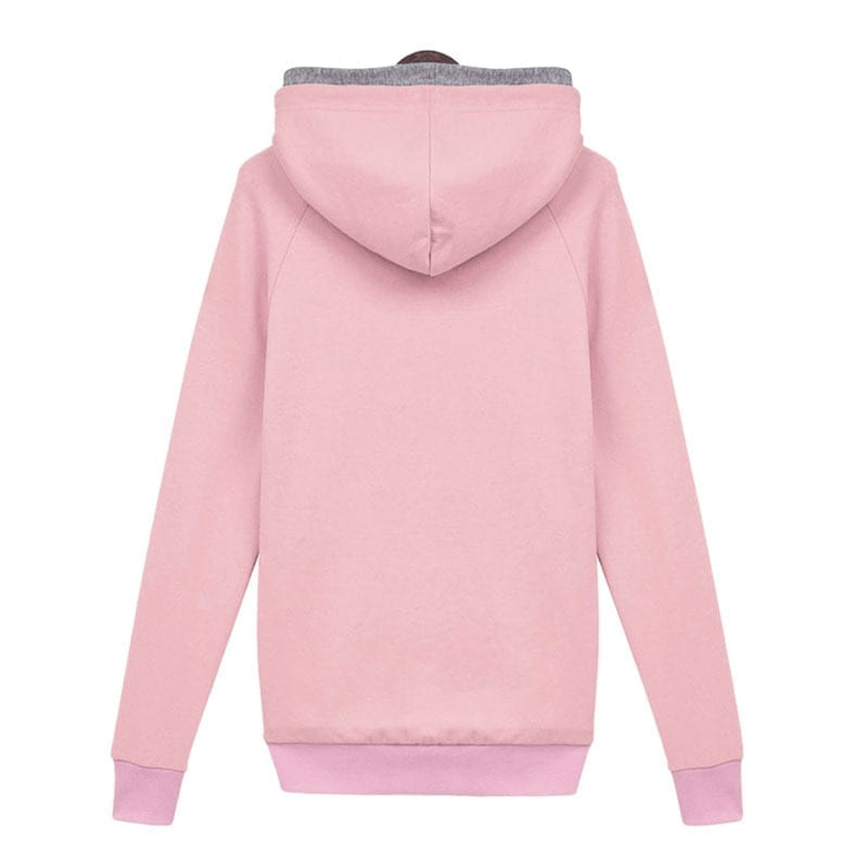 Casual Double Hoodies Long Sleeve Female Pullover