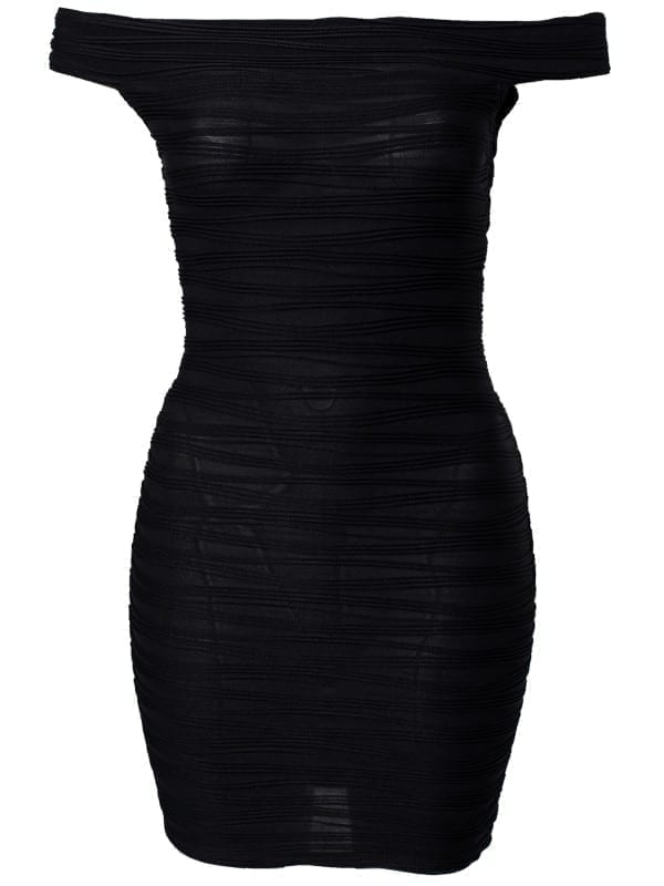 Stripe Knitting Elastic Party Dress
