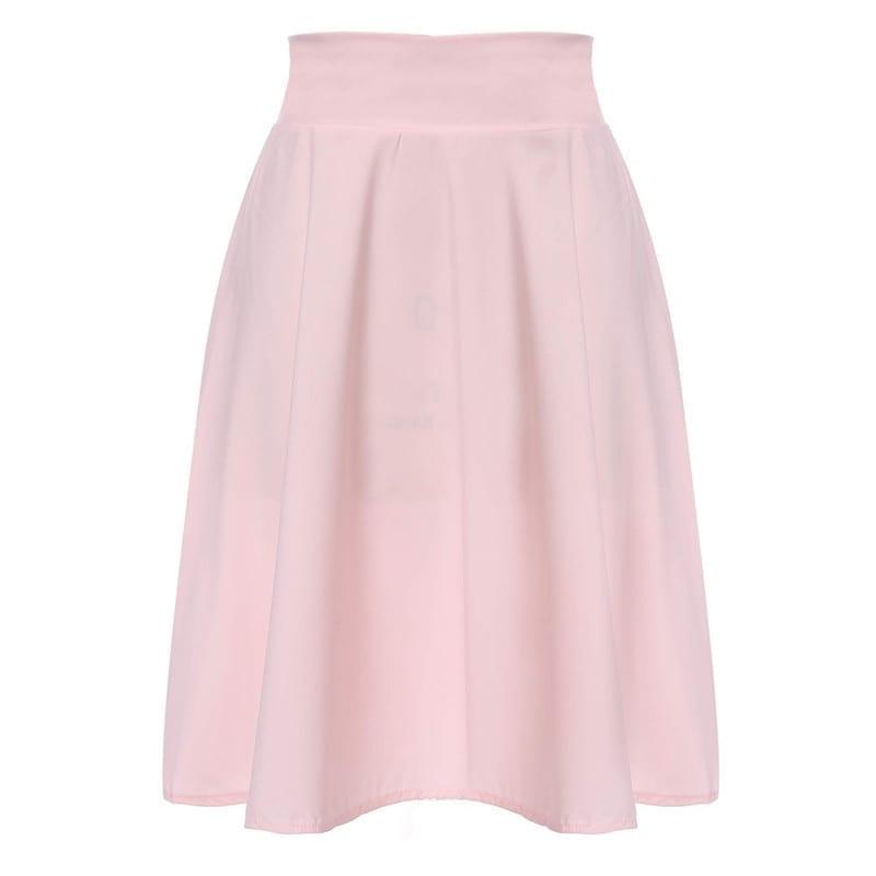 Knee Length A-line Flared Full Swing Skirt