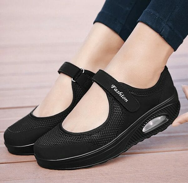 Breathable mesh moccasin boat shoes