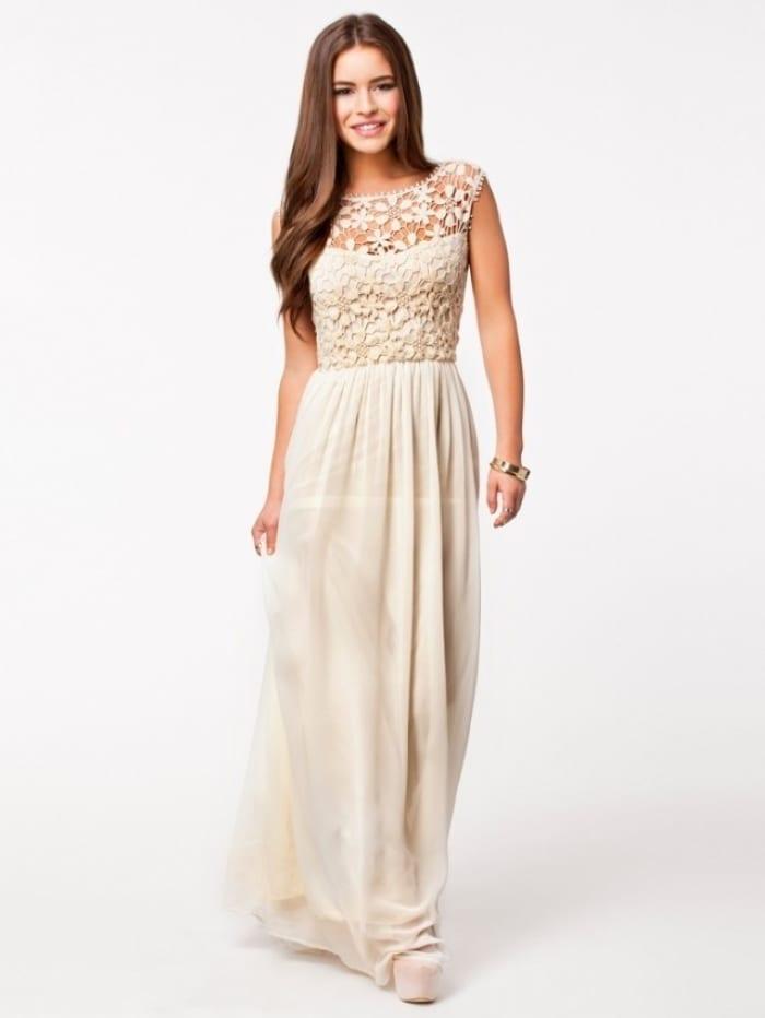 Sleeveless Top Crochet Sexy Lace Chiffon Maxi Dress