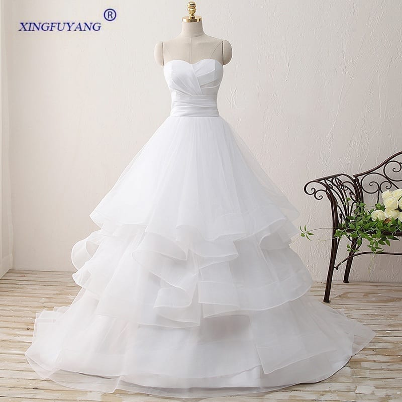Off Shoulder Sweetheart Long Taffeta Bridal Dress