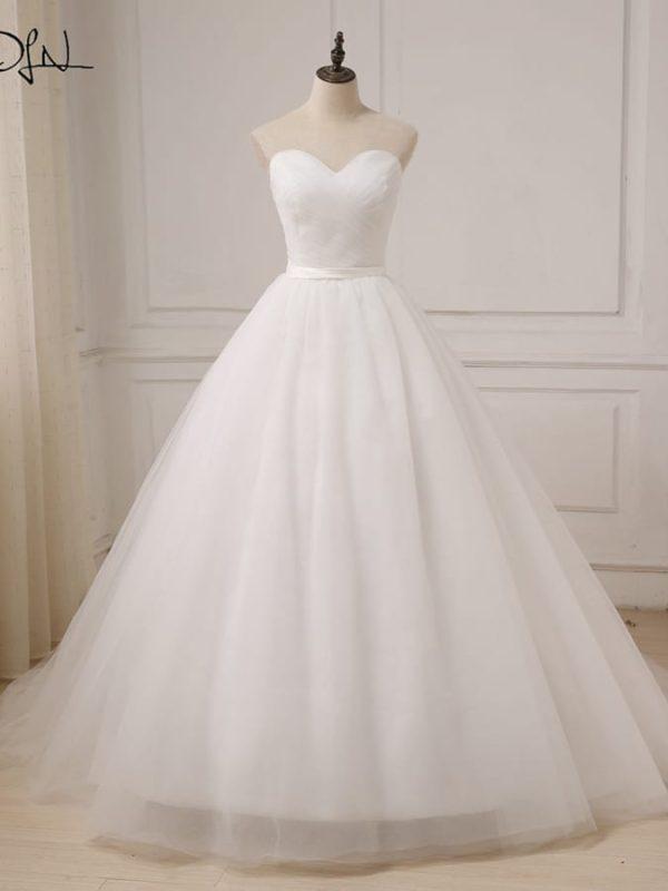 Sweetheart Floor Length Wedding Dress