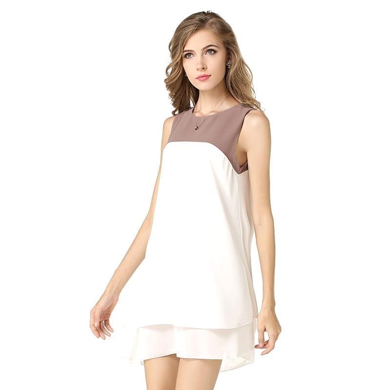 Summer Double Storey Contrast Color Dress