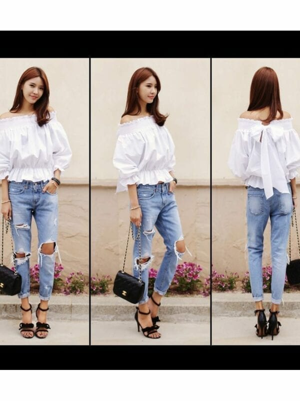 Women Big Hole Ripped Designer Jeans
