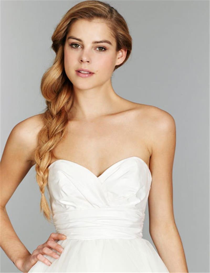 A-line Taffeta Organza Wedding Dress