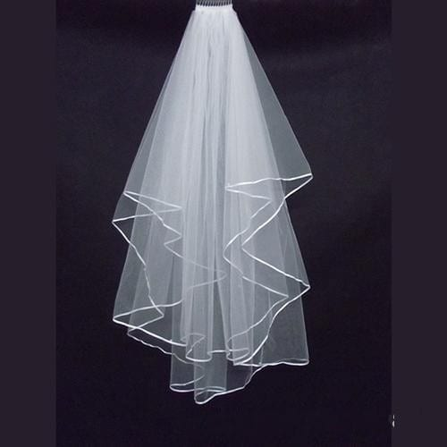 Two Layers Tulle Short Bride Wedding Veil
