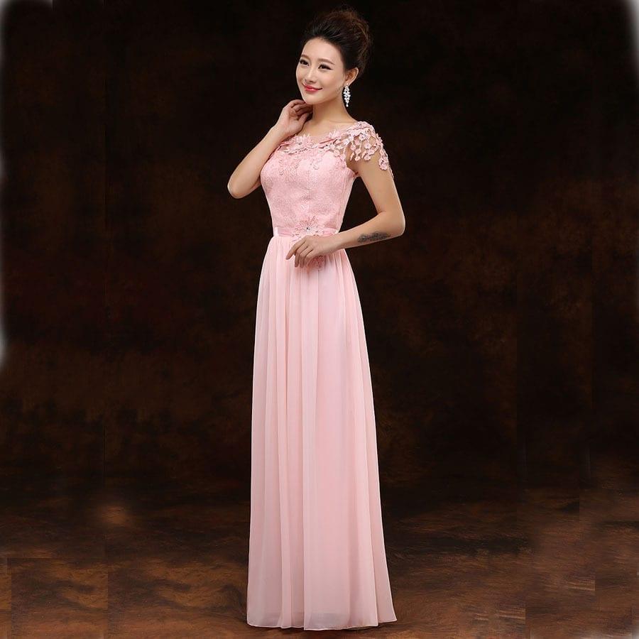 Elegant Long Chiffon Bridesmaid Dress