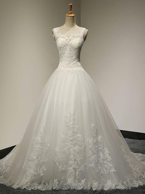Vintage Lace Princess Wedding Dress
