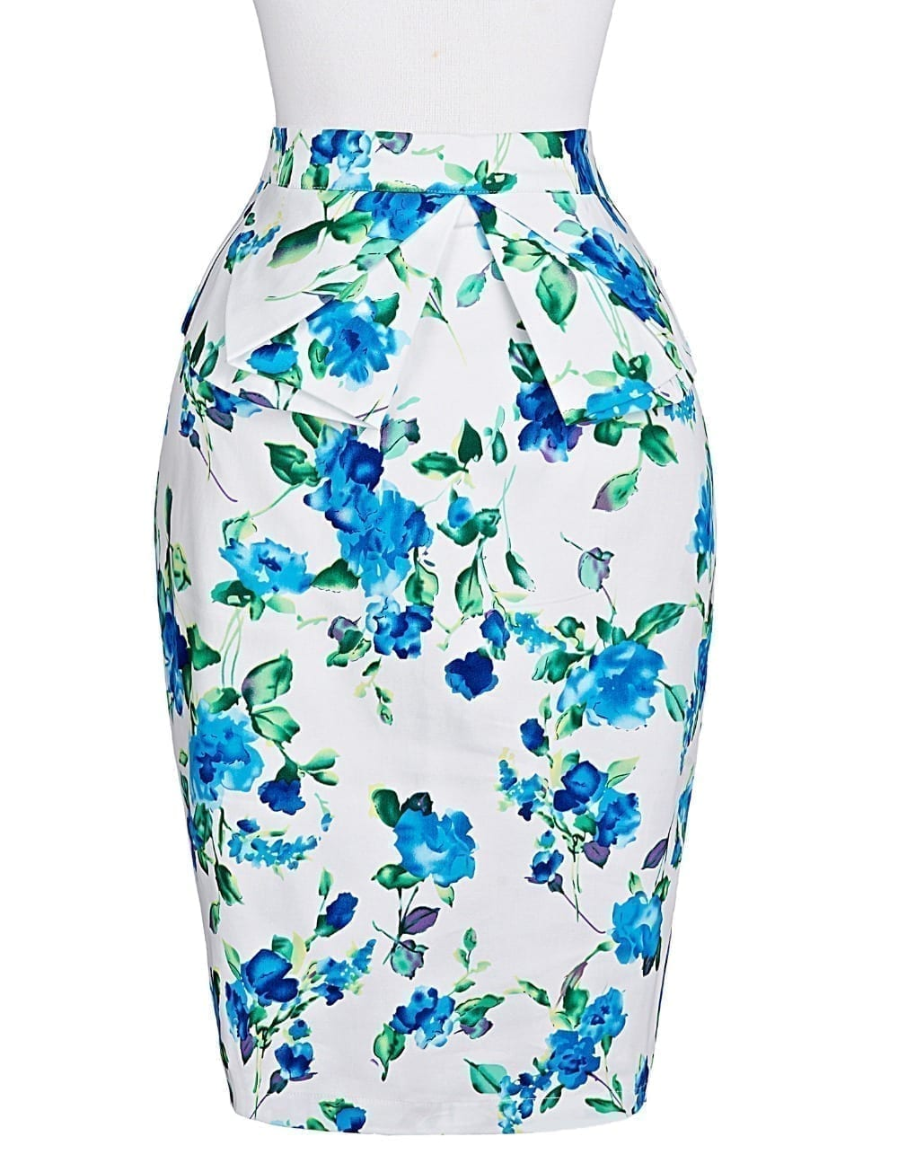 Pencil Bodycon Office Vintage Floral Skirt