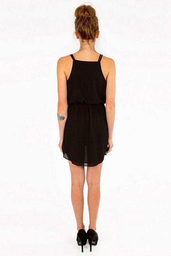 V-neck Sleeveless Mini Dress