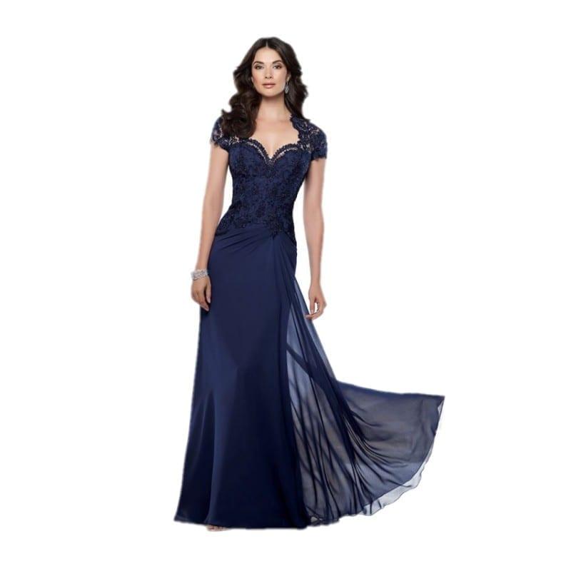 Elegant Chiffon Short Sleeve Mother Of The Bride Dress