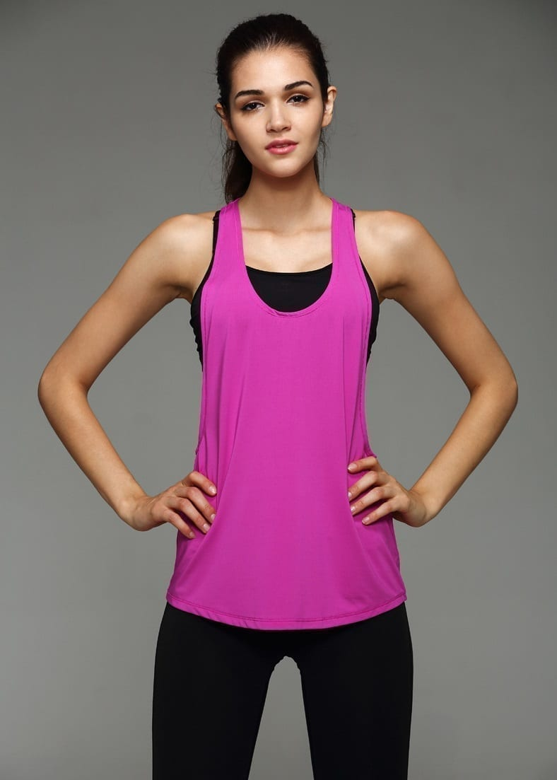Dry Quick Loose Gym Fitness Sport Singlet Tank Top