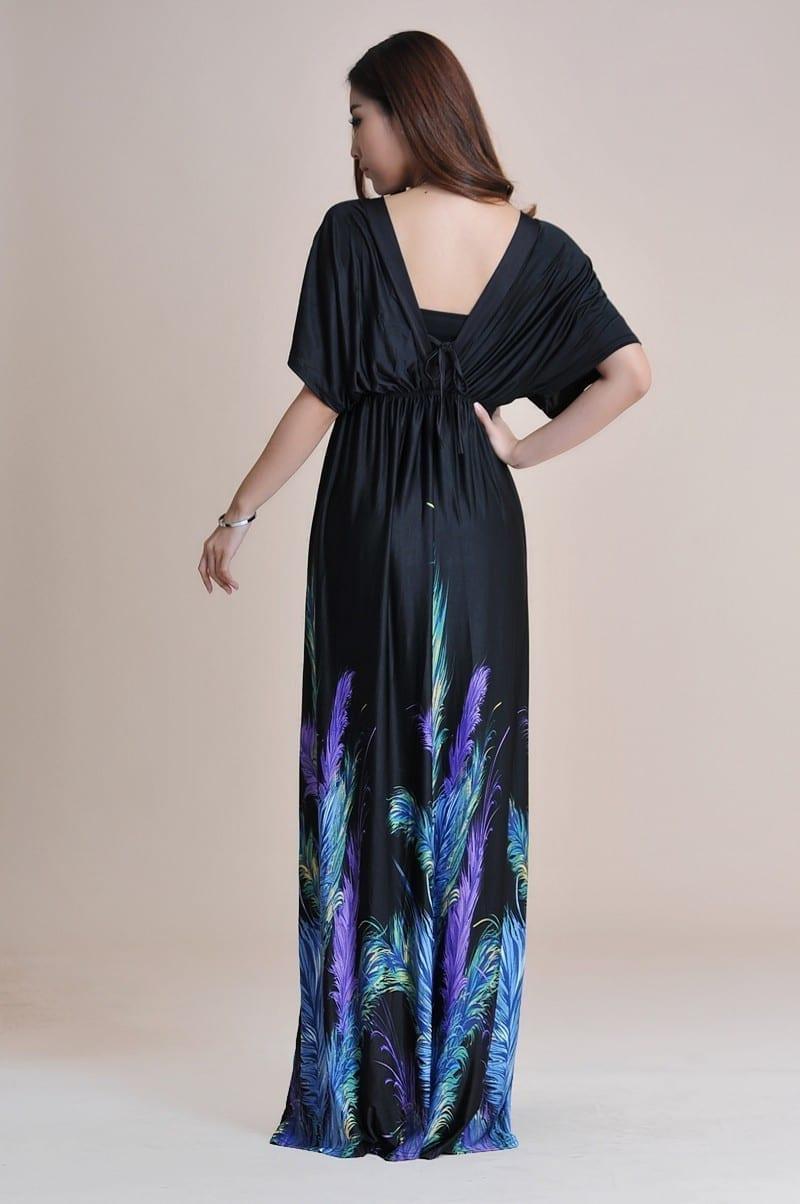 Boho Print Maxi Dress 6xl