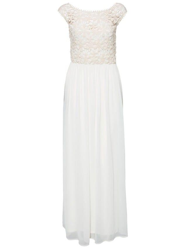 Sleeveless Top Crochet Lace Chiffon Maxi Dress