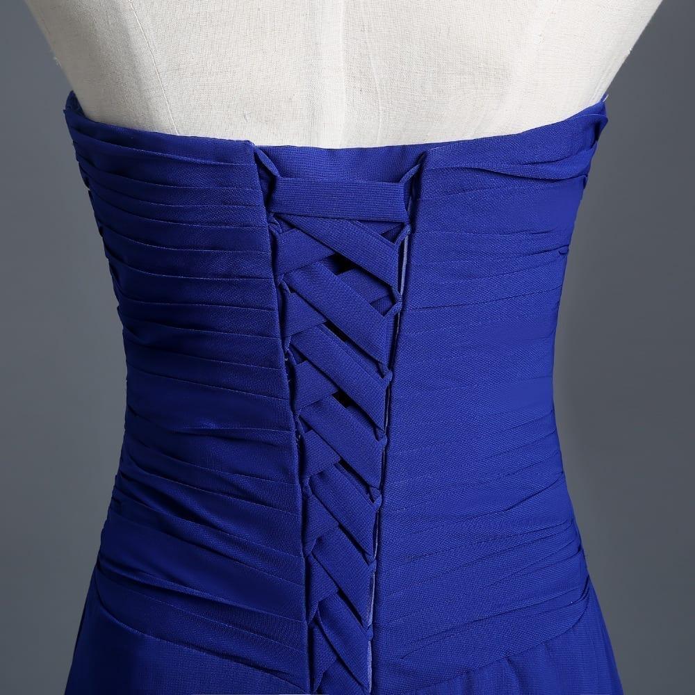 Long Strapless A-line Bridesmaid Dress