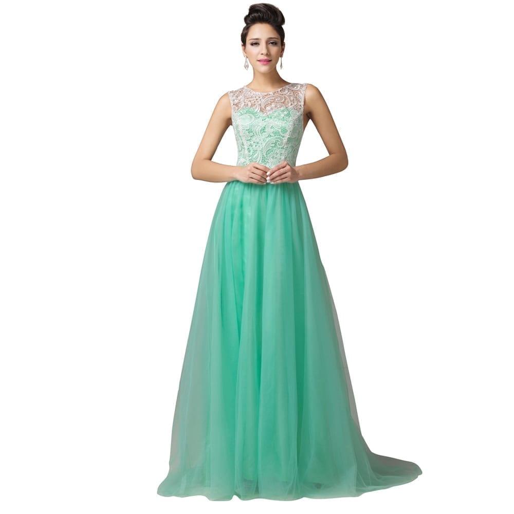 Floor-length Long Lace Evening Dress