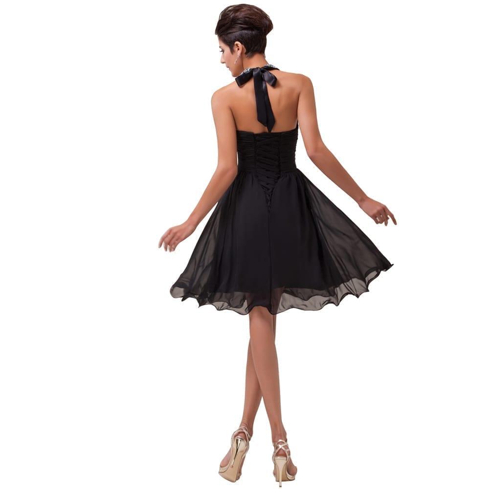 Knee Length Chiffon Cocktail Dress