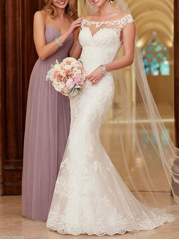Elegant Lace Mermaid Wedding Dress