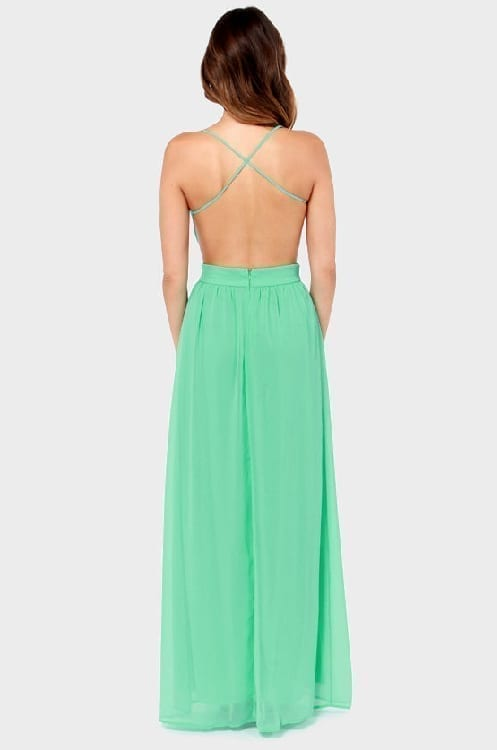 Spaghetti Strap Backless Pleated Maxi Long Party Beach Dress