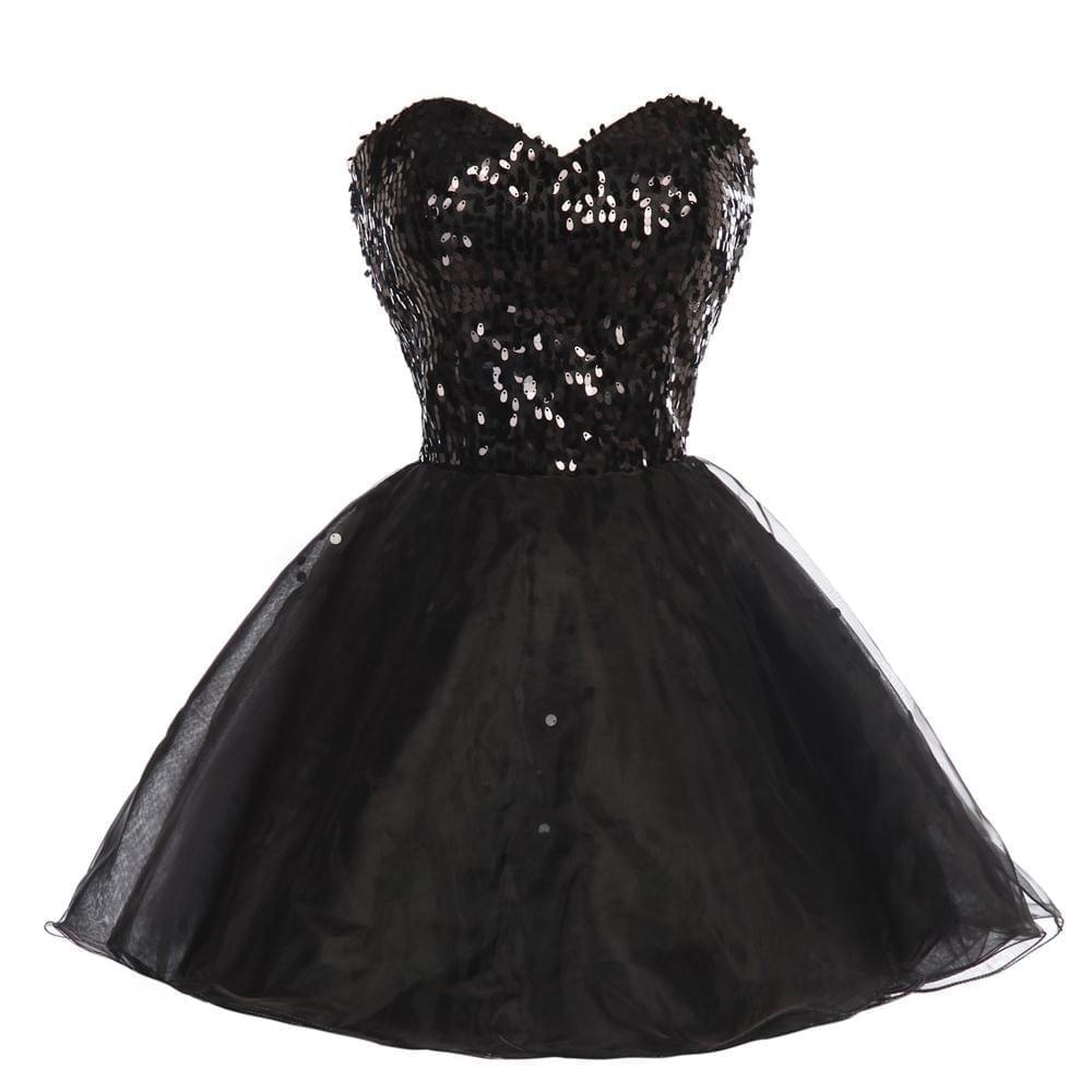Sparkly Sequins Short Bridesmaid Dress