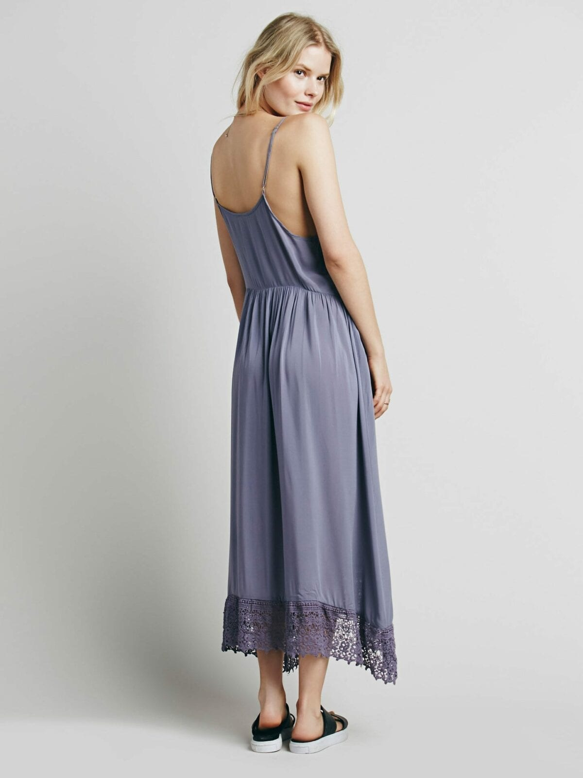 Boho Beach Lace Crochet Slip Dress