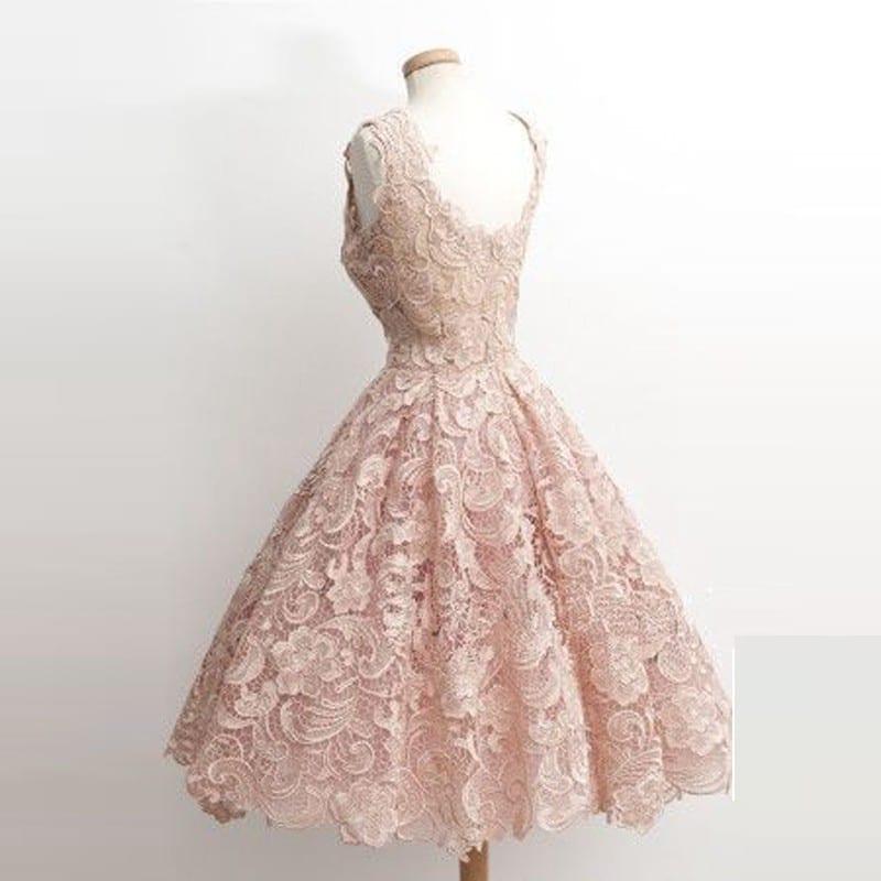 Elegant Lace Short Cocktail Dress