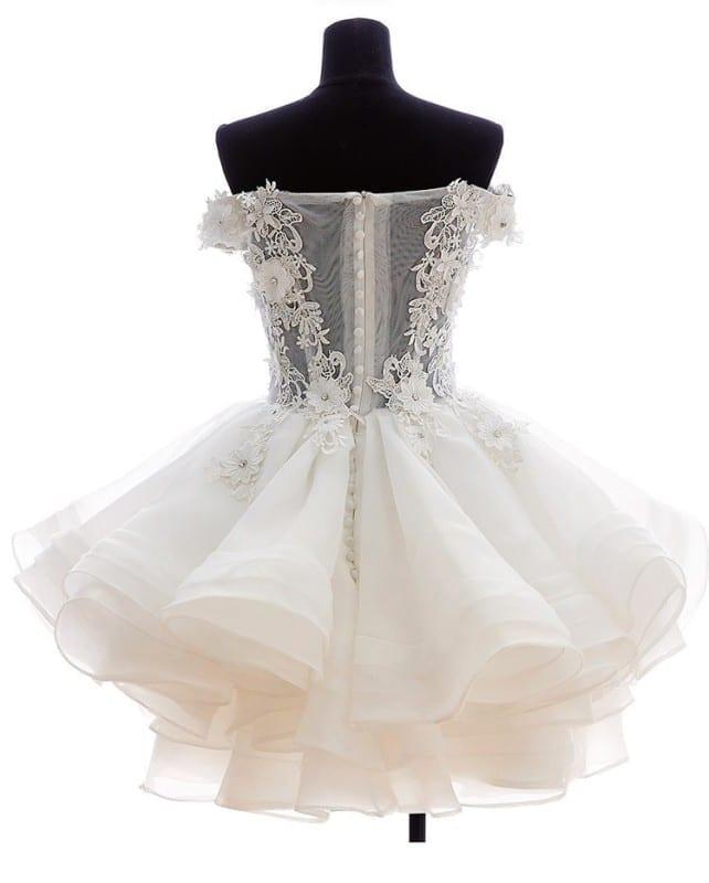 Back wedding dress