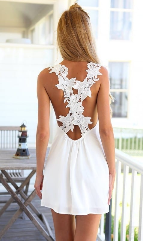 Back white dress