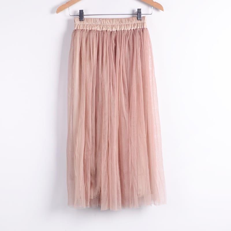 Beauty Long Tulle Skater Skirt
