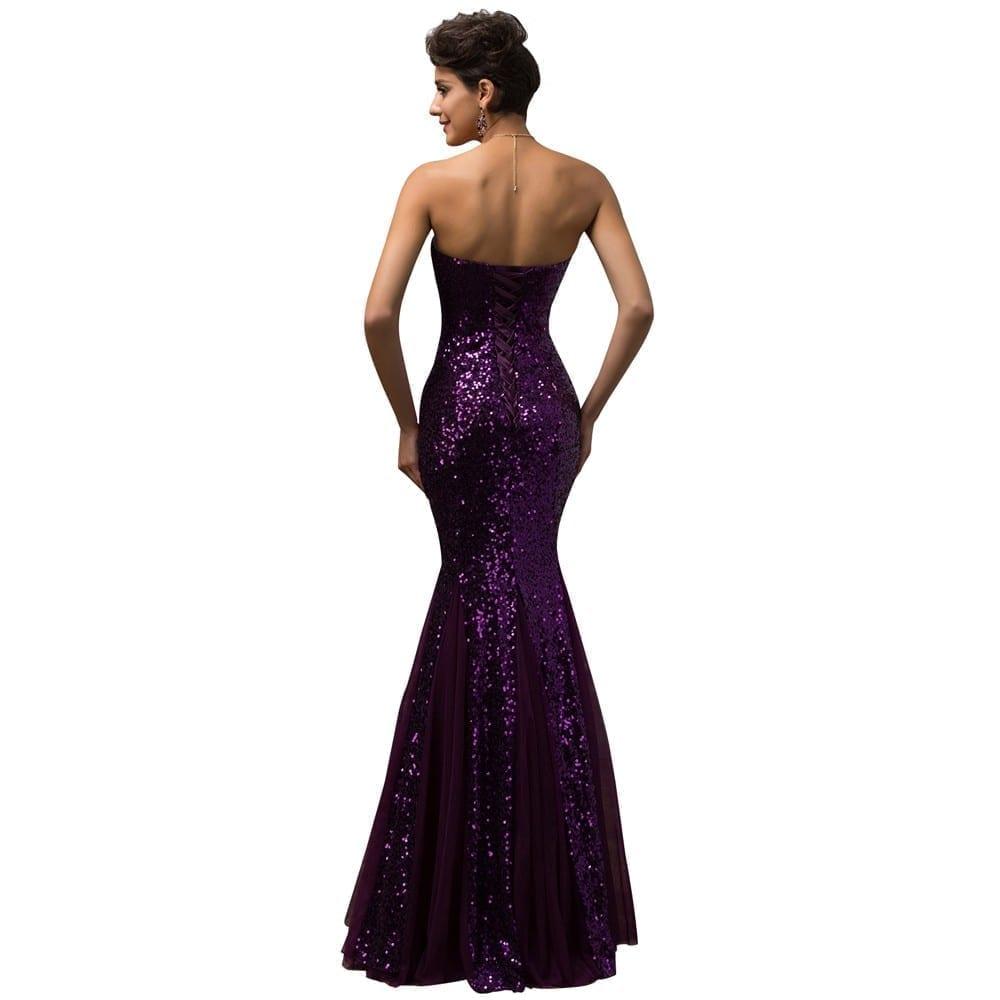Strapless Tulle Long Elegant Mermaid Evening Dress