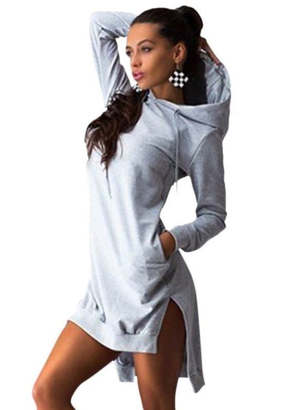 Hoodie Long Sleeve Slim Print With Pocket