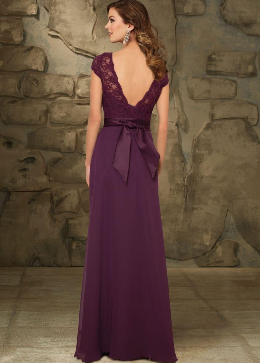 Elegant A-line Long Chiffon Bridesmaid Dress