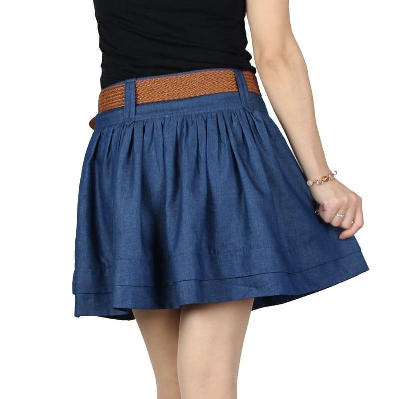 Beauty Denim Skirt Free Belt